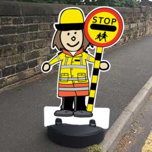 Traffic Patrol Buddies / Kiddie Cut Out Pavement Sign