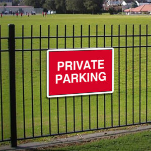 Private Parking Sign alternate image