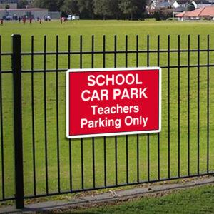 School Car Park Teachers Parking Only alternate image
