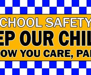 Keep Our Children Safe PVC Banner alternate image