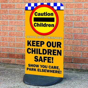 Caution Children Pavement Sign