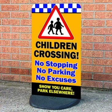Children Crossing Safety Pavement Sign, No Excuses