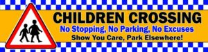 Children Crossing Park Elsewhere PVC Banner alternate image