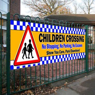 Children Crossing Park Elsewhere PVC Banner