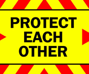COVID-19 Protect Each Other - Keep Safe Leave Space - PVC Banner alternate image