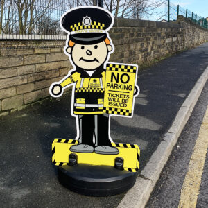 Traffic Warden Buddy Pavement Sign