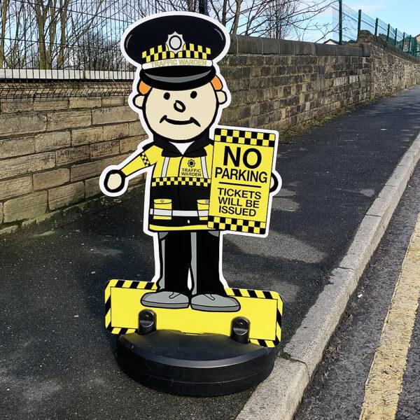 Traffic Warden Buddy Pavement Sign
