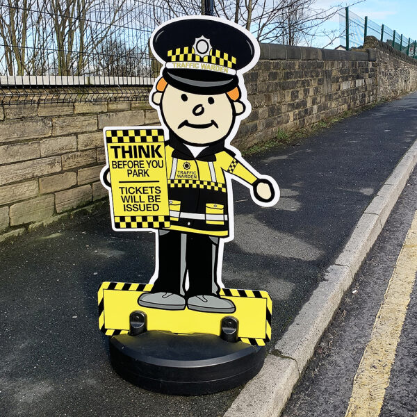 Traffic Warden Road Safety Kiddie Cut Out Pavement Sign