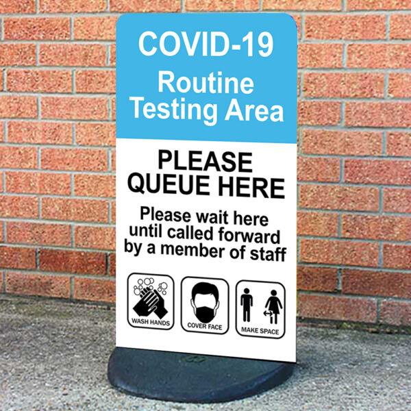 Covid 19 Testing Area Sign