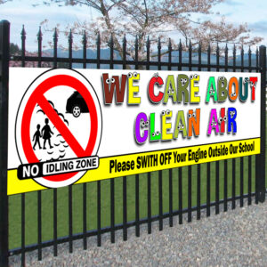 We Care About Clean Air – Child Safety PVC Banner