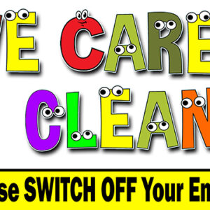We Care About Clean Air - Child Safety PVC Banner alternate image