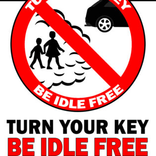 Turn Your Key Be Idle Free Pavement Sign alternate image