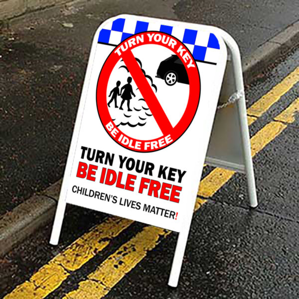 Idle Free Pavement Sign