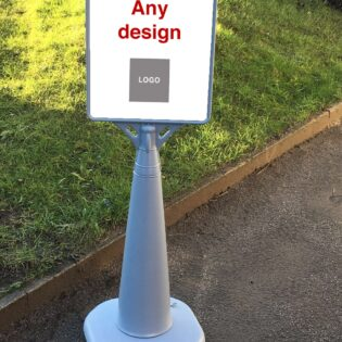 Custom Water Filled Bus Stop Style Sign