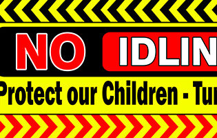 No Idling Zone Child Safety Banner - Air Pollution alternate image