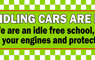 Idle FREE School Safety Banner alternate image