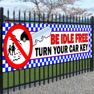 Be Idle FREE Turn Your Car Key Banners