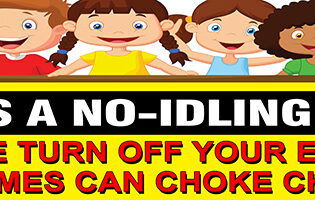 This Is A No Idling Zone PVC Banner alternate image