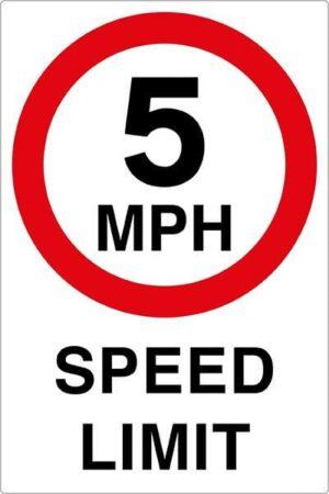 5mph Speed Limit Sign alternate image