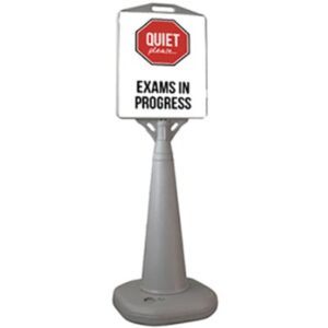 Quiet Please Exams In Progress Bus Stop Sign