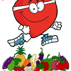 A Healthy Heart Needs Healthy Food Child Friendly Message alternate image