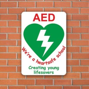 AED Heartsafe School Sign