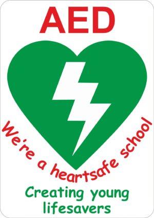 AED Heartsafe School Sign alternate image