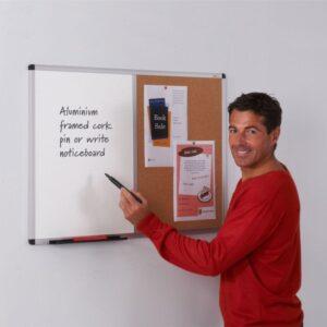 Aluminium framed felt / drywipe dual noticeboards alternate image