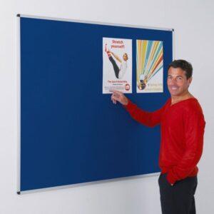 Aluminium framed felt noticeboards