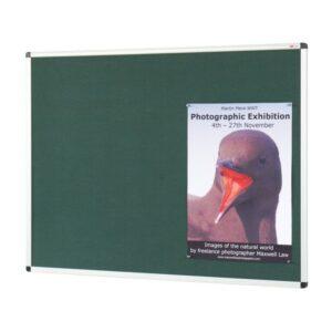 Aluminium framed noticeboard with fire retardant cloth alternate image