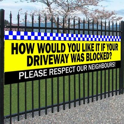 Driveway Blocked Banner