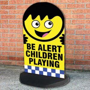 be alert children playing aboard