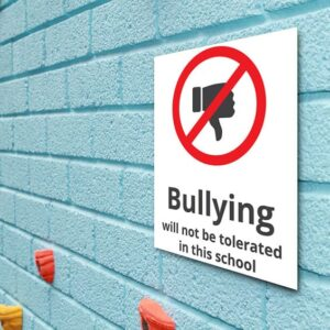Bullying will not be tolerated