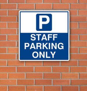 Staff Car Parking Sign alternate image