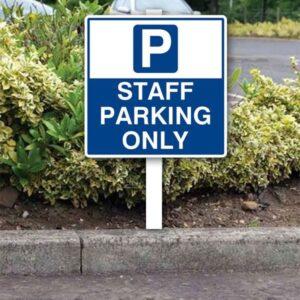 Staff Car Parking Sign