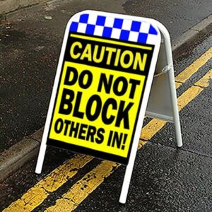 do not block others in