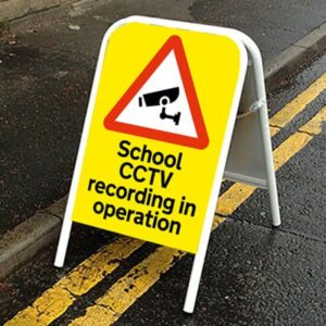 School CCTV recording in operation