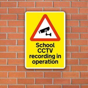 CCTV School recording in operation
