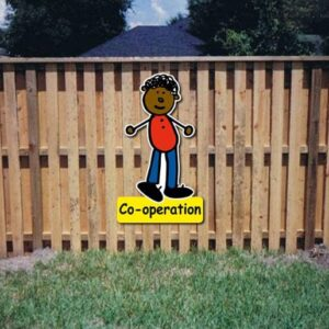 Co-operation Core Value Kiddie Sign