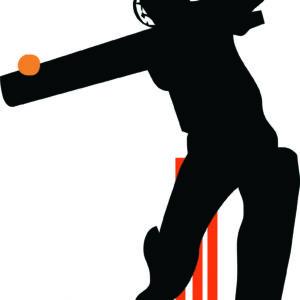 Cricketer Silhouette alternate image