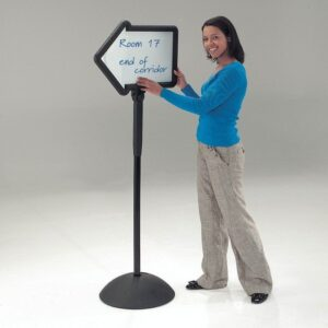 Double sided freestanding wipe boards different shapes