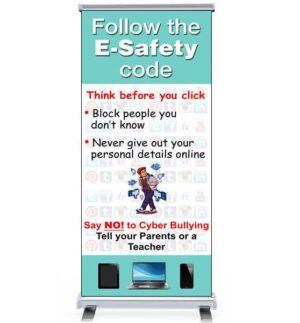 E-Safety pull up banner alternate image