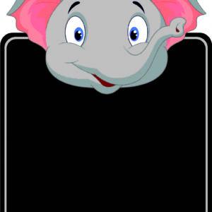 Elephant Chalkboard alternate image