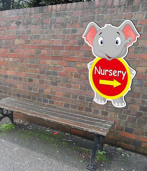 elephant school sign