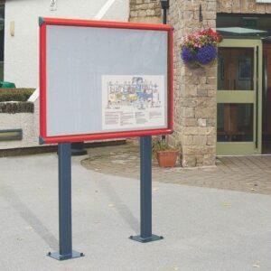 Exterior Waterproof Noticeboards on posts