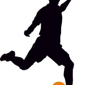 Footballer Silhouette alternate image