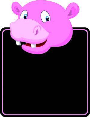 Hippo Topped Chalkboard alternate image