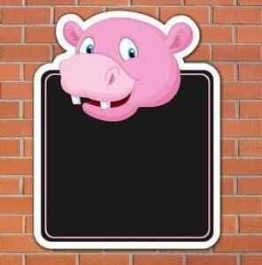 Hippo Topped Chalkboard
