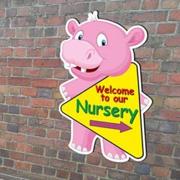 hippo cartoon sign