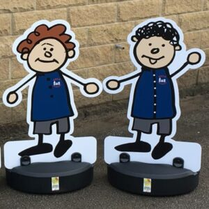Parking Buddies / Kiddie Cut Out Road Safety Pavement Signs